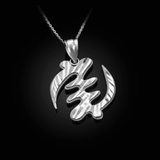 Sterling Silver African Adinkra Gye Nyame DC Pendant Necklace
