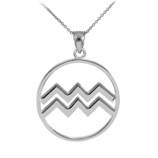 Silver Aquarius Necklace