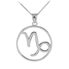 Silver Capricorn Zodiac Necklace