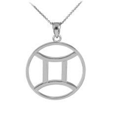 Silver Gemini Zodiac Necklace