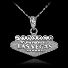 Silver Las Vegas Necklace