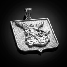 St. Michael Sterling Silver Medal Pendant