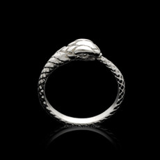 Sterling Silver Ouroboros Tail Biting Snake Ring