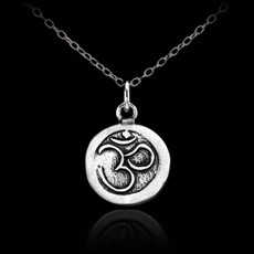 Silver OM necklace