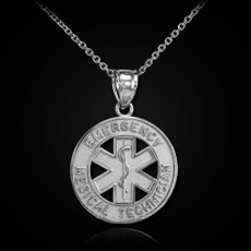 Sterling Silver EMT (Emergency Medical Transportation) Pendant Necklace
