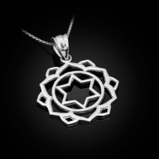 Sterling Silver Anahata Love Chakra Yoga Pendant Necklace