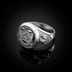 Sterling Silver 32 Degree Scottish Rite Masonic Ring