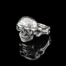 Sterling Silver Bone Design Skull Ring