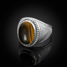 Sterling Silver Tiger Eye Statement Ring