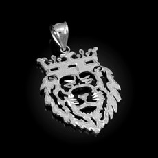 Sterling Silver Lion King DC Pendant (S/L)