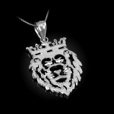 Sterling Silver Lion King DC Charm Necklace