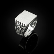 Sterling Silver Celtic Men's Signet Ring