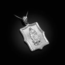 Our Lady of Guadalupe Sterling Silver  DC Pendant Necklace