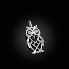 Sterling Silver Owl Filigree DC Charm Necklace