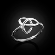 925 Sterling Silver Celtic Triquetra Ladies Trinity Ring