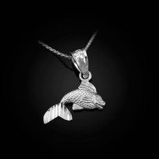 Sterling Silver Tiny Goldfish DC Charm Necklace