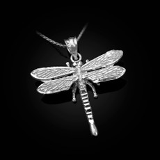 Sterling Silver Dragonfly DC Pendant Necklace