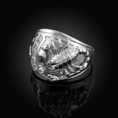Sterling Silver Men's Scorpion CZ Ring