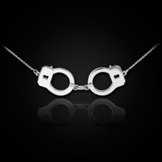Sterling Silver Handcuffs Necklace