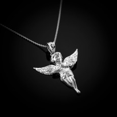 Sterling Silver Angel Pendant Necklace