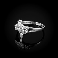 Sterling Silver Womens Texas Nugget Ring