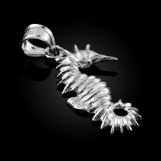 Sterling Silver Seahorse Charm Pendant