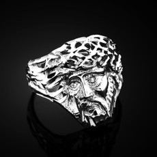 Sterling Silver Jesus Head DC Ring