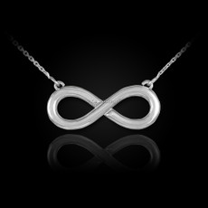 Polished Sterling Silver Infinity Pendant Necklace