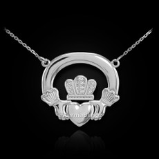 Sterling Silver Classic Claddagh Necklace