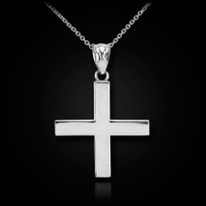 Sterling Silver Greek Cross Pendant Necklace