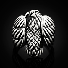 Sterling Silver Mens Eagle Statement Ring