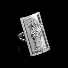 Sterling Silver Santa Muerte Fancy Ring