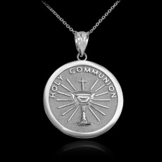 Sterling Silver Holy Communion Pendant Necklace