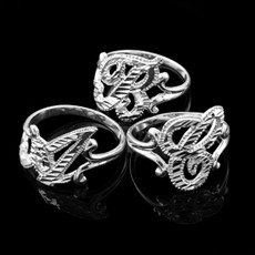 Sterling Silver Sparkle-Cut Letter Initial Script Ring