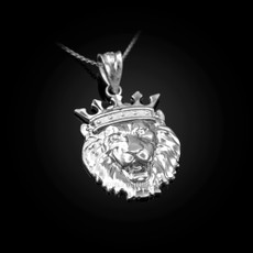 Sterling Silver Lion King Charm Necklace