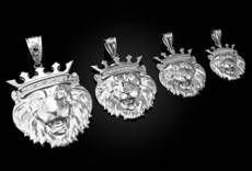 Sterling Silver Lion King Pendant (S/M/L/XL)