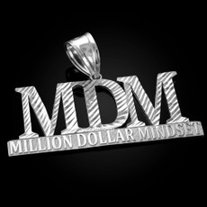 MDM Million Dollar Mindset Sterling Silver DC Pendant