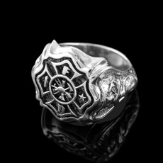 Men's Silver Fire Department Ring