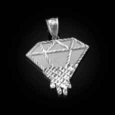 Sterling Silver Diamond Dripping DC Pendant
