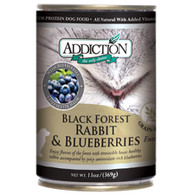 Addiction Black Forest Rabbit & Blueberries Dog Canned