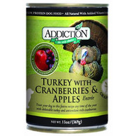 Addiction Turkey With Cranberries & Apple Dog Canned