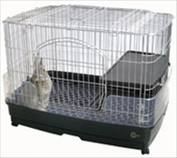 MR306 Clear Rabbit Cage with Pull Out Tray and Platform