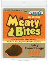 Addiction Beef Meaty Bites Dog Treats