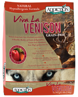 Addiction Viva La Venison Dog  (Grain-Free)