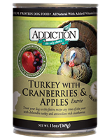 Addiction Turkey with Cranberries and Apples Dog Canned