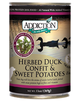 Addiction Herbed Duck Confit & Sweet Potatoes Dog Canned