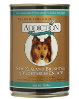 Addiction NZ Brushtail and Vegetables Dog Canned