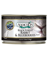 Addiction Black Forest Rabbit & Blueberries Cat Canned