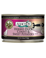 Addiction Herbed Duck Confit & Sweet Potatoes Cat Canned