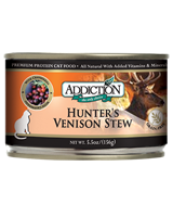 Addiction Hunter's Venison Stew Cat Canned